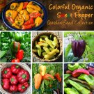 Sweet Rainbow Bell Pepper Seeds Collection - 6 Varieties