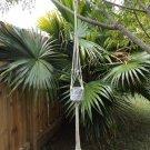 Natural Cotton Macrame Hanging Plant Holder with Concrete Pot - Set