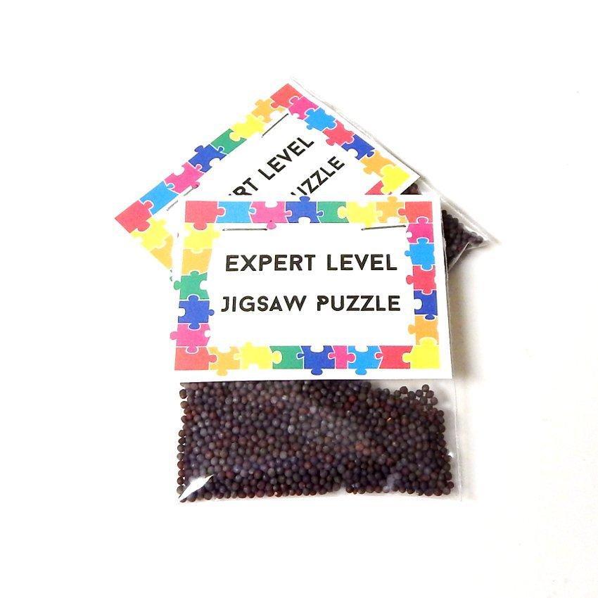 Expert Level Jigsaw Puzzle Seed Gift Joke Prank - Set of 6