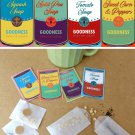 Vintage Pop Art Inspired Soup Seed Packet Gift - Set of 4