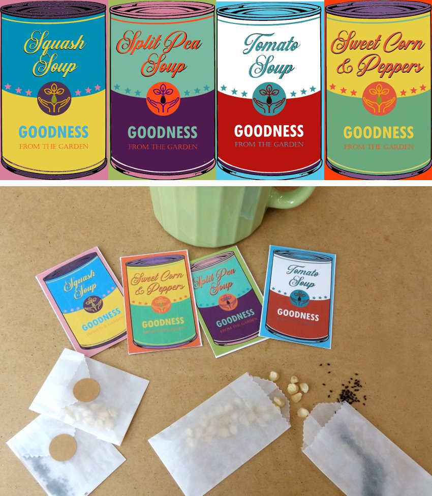 Vintage Art Inspired Soup Seed Packet Gift - Pick One!