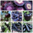 Almost Black Heirloom Heritage Vegetable Garden Seed Collection