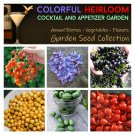 Colorful Organic Appetizer and Cocktail Garden Seed Collection - 6 Varieties