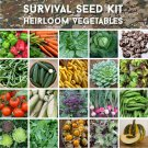 Survival Organic Heirloom Vegetable Seed Personal Collection 20 Varieties - Seed Gift in a Box