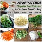 Asian Kitchen Garden Organic Vegetable Seed Collection - 6 Varieties