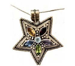 Regal Star Minura Jeweled Necklace