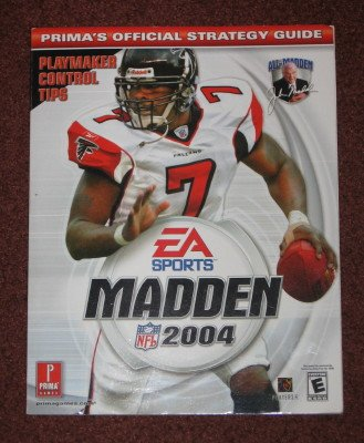 Madden NFL 2004 Prima's Official Strategy Guide PS2 Softcover Video Game Book