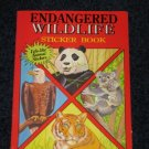 Endangered Wildlife Sticker Book for Children Softcover