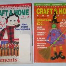 Decorating Digest Craft Home Projects Holidays Christmas Halloween Lot of 2 Magazines