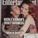 ENTERTAINMENT WEEKLY Magazine 597 Nicole Kidman Ewan McGregor Moulin Rouge Weezer Shrek May 25 2001
