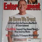 ENTERTAINMENT WEEKLY Magazine 623 David Letterman Hayden Christensen David Lynch November 2 2001