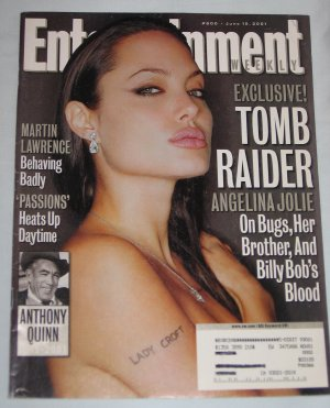 ENTERTAINMENT WEEKLY Magazine 600 Angelina Jolie Tomb Raider Anthony Quinn Martin Lawrence June 2001