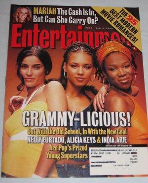 ENTERTAINMENT WEEKLY Magazine 638 Nelly Furtado Alicia Keys India.Arie Mariah Carey February 8 2002