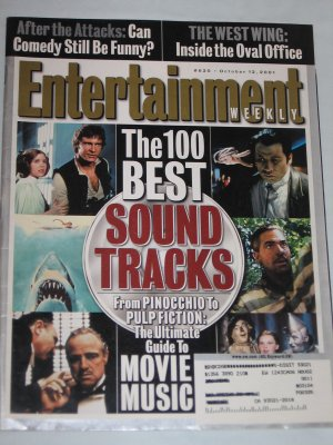 ENTERTAINMENT WEEKLY Magazine 620 Movie Music 100 Best Soundtracks West Wing Bo Derek October 2001