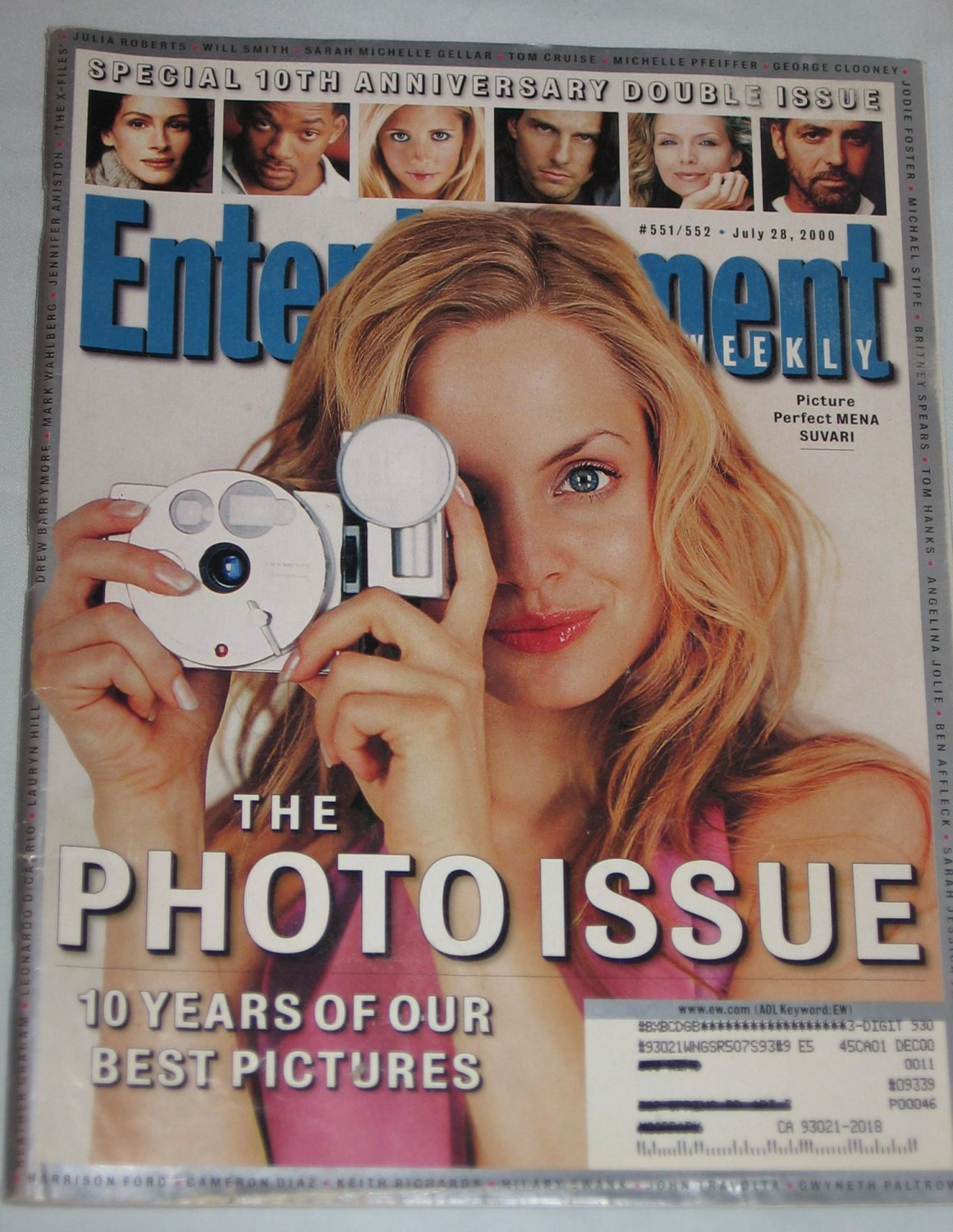 ENTERTAINMENT WEEKLY 10th Anniversary Double Issue Magazine 551 552 Best Pictures July 2000