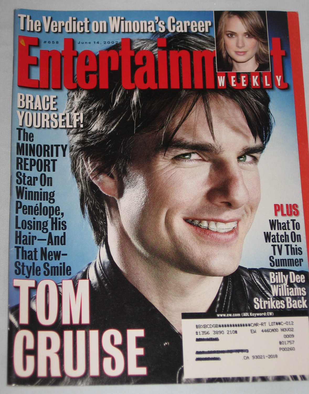 ENTERTAINMENT WEEKLY Magazine 658 Tom Cruise Winona Ryder Billy Dee Williams June 14 2002