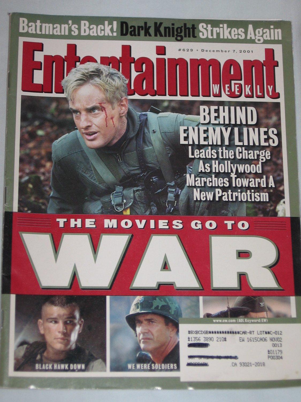 ENTERTAINMENT WEEKLY Magazine 629 War Movies Owen Wilson Behind Enemy Lines Batman December 2001