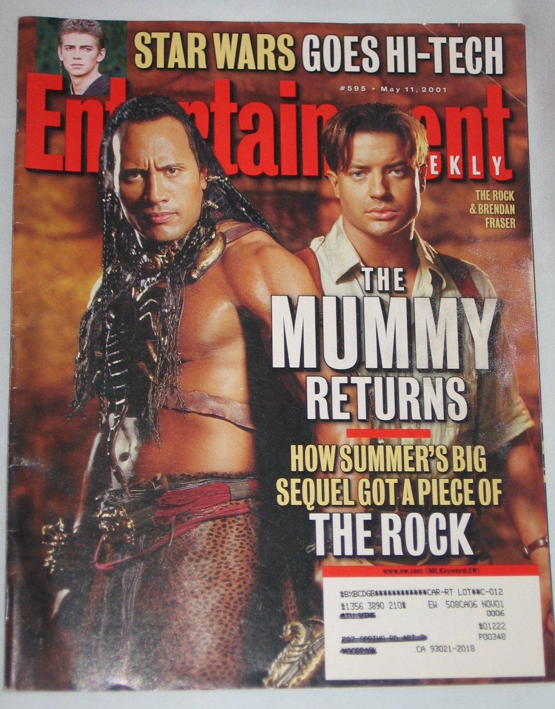 ENTERTAINMENT WEEKLY Magazine 595 The Rock Brendan Fraser Mummy Returns Star Wars May 11 2001