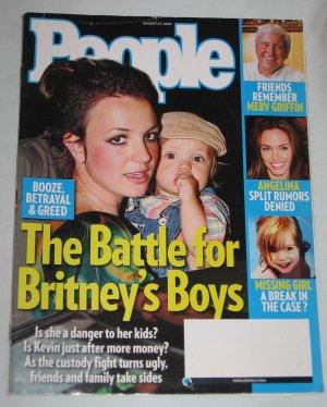 PEOPLE MAGAZINE August 27 2007 Britney Spears Merv Griffin Angelina Jolie