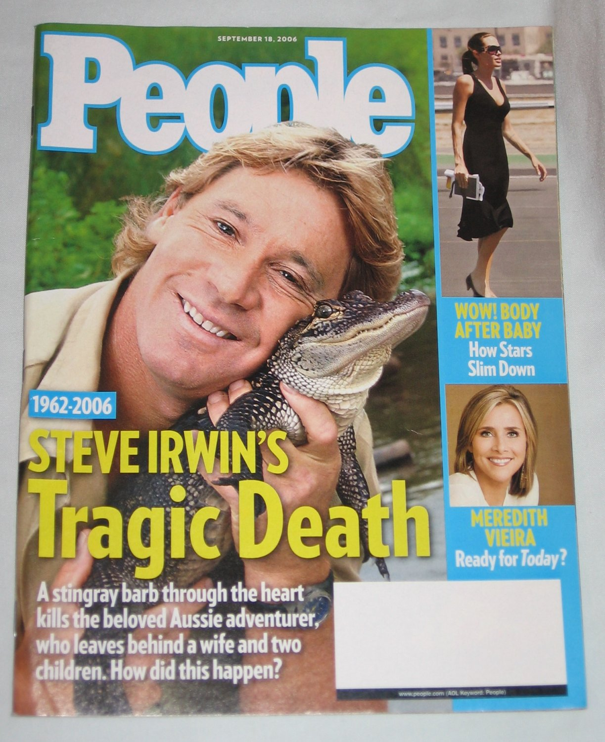 PEOPLE MAGAZINE September 2006 Steve Irwins Death Prince William Kate Middleton Meredith Vieira