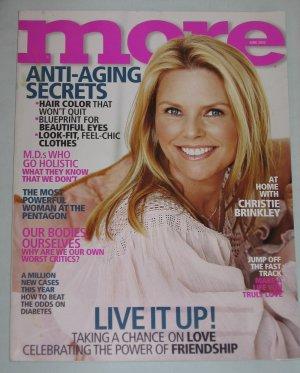 MORE MAGAZINE June 2003 Christie Brinkley, Demi Moore, Lena Olin, Nigella Delights