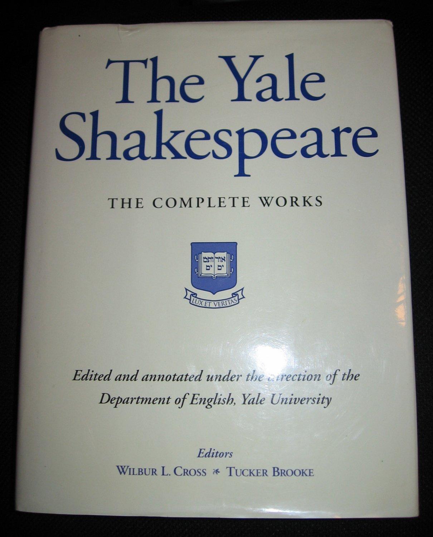 YALE SHAKESPEARE COMPLETE WORKS by Wilbur Cross Tucker Brooke 1993 Hardcover Barnes Noble Book