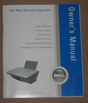 Dell Photo All In One Printer 922 OWNERS MANUAL