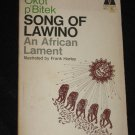 Song of Lawino An African Lament by Okot p'Bitek Frank Horley VINTAGE 1969 Poetry Book