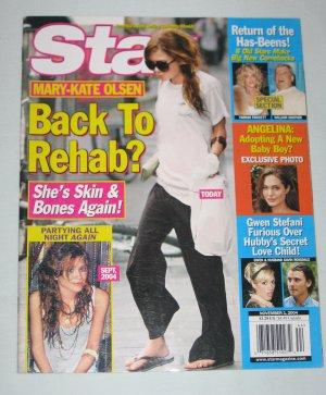 STAR MAGAZINE November 2004 Mary Kate Olsen Angelina Jolie Gwen Stefani Farrah Fawcett