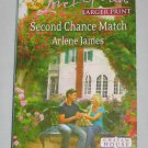 Love Inspired Second Chance Match Arlene James LARGE PRINT Inspirational Romance 2012 Paperback