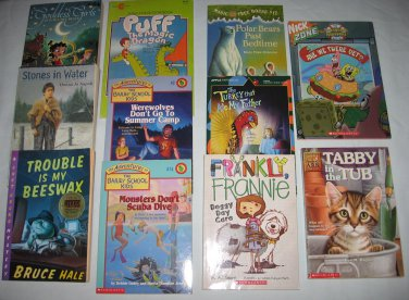 Lot of 11 Chapter Books Bailey Kids Magic Tree House Scholastic Nickelodeon Apple +