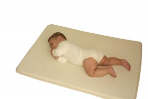 "Organic Wool Infant Mattress with Natural Rubber - Baby Bunk 15"" x 35"""