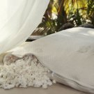 Natural Shredded Rubber Queen Pillow with Organic Cotton Damask