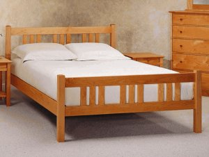 All Natural Solid Maple Arts & Crafts Queen Platform Bed by Pacific Rim
