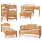 4 in 1 Sleep System - All Natural Solid Maple Twin Beds by Pacific Rim