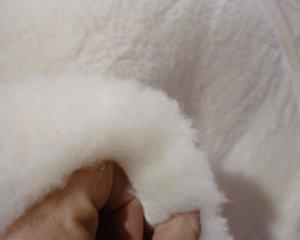 Organic Merino Wool Plush Crib Mattress Pad with Organic Cotton Backing