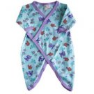 Organic Cotton Snap Kimono for Infants - Kitty Print
