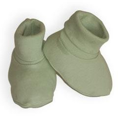 Organic Cotton Infant Booties - Sage