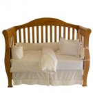 Organic Wool and Organic Cotton Sateen Crib Comforter - Hand Tufted