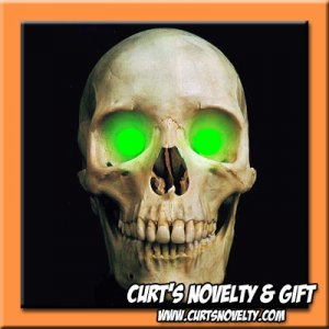 Scary Green LED Halloween Eye Eyes Set Haunted House Prop