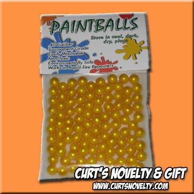 .40 Caliber Yellow Paintballs Bag of 100 Great for Blowgun or Slingshot