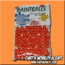 .40 Caliber Orange Paintballs Bag of 100 Great for Blowgun or Slingshot