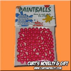 .40 Caliber Pink / Fuchsia Paintballs Bag of 100 Great for Blowgun or Slingshot