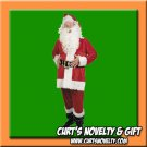 XL - XXL Faux Velvet Santa Claus Suit Costume Holiday Outfit 9 PCS