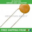 1pF Ceramic Disc Capacitor 50V 20PCS 20-Pack FREE SHIPPING