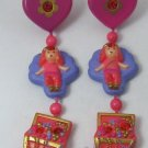 1992 Vintage Polly Pocket Princess Yasmin's Dangly Earrings Bluebird Toys (34306)