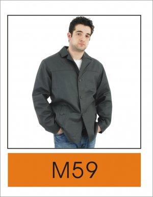 Mens Classic Leather Blazer