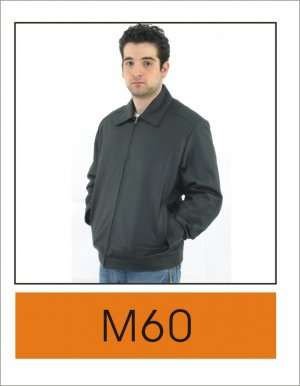 Mens Casual Simple Leather Jacket