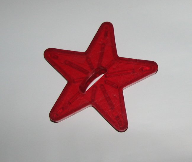 Vintage Holiday Clear Red Cookie Cutter One Star