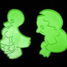 Wilton Easter Vintage Chick and Duck Plastic Cookie Cutters Set of 2 Cutter